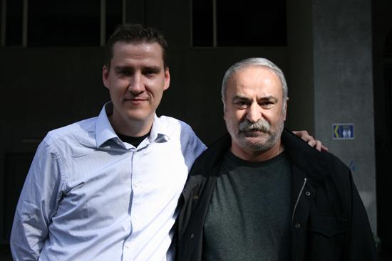 Artikkelforfatter Tor-Kristian Karlsen og legenden Aleksandr Chivadze.