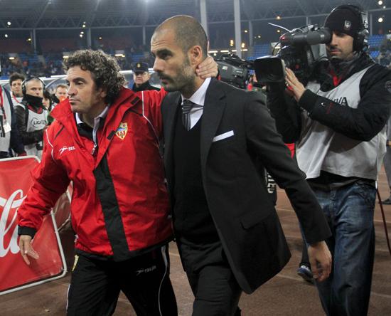 Juanma Lillo og Pep Guardiola.