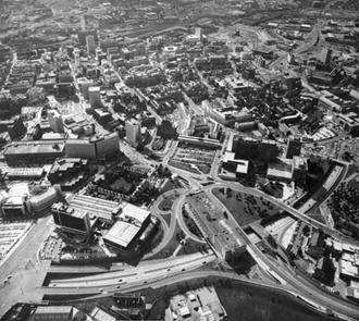Flyfoto av Inner Ring Road fra 1981.