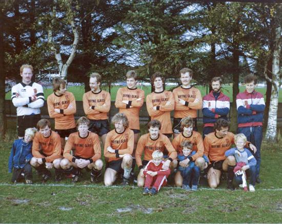 """RBK anno 1984. Da klubbens motto virkelig betydde noe: """"Med smil og stil""""."""