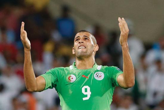 Islam Slimani scorer i snitt annenhver landskamp. Hans prestasjoner blir avgjørende for Algerie i Brasil.