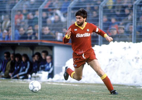 Ancelotti opplevde sin første store suksess i Roma da de vant Scudetto i 1983.