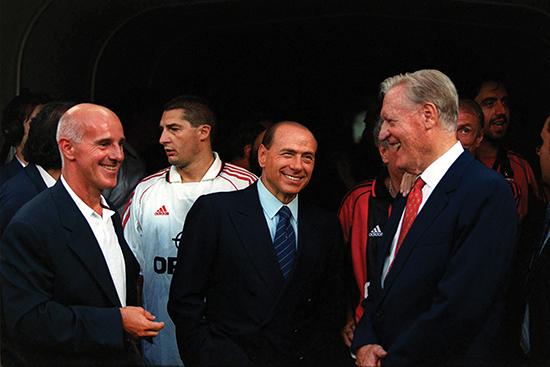 Sacchi, Berlusconi og Liedholm – to menn som formet Ancelotti og én som fikk nyte godt av resultatet.