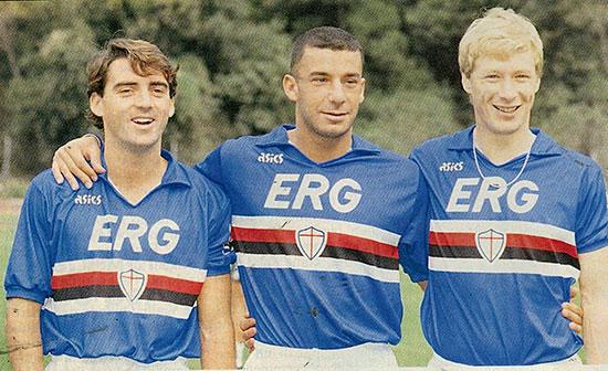 Roberto Mancini og Gianliuca Vialli var det beste spissparet i Serie A. Begavede Aleksej Mikhailitsjenko slet med å spille seg inn på laget.
