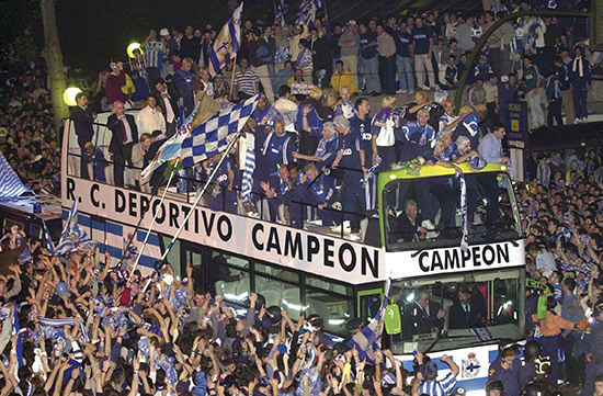 SOCCER - SPAIN/CHAMPIONS OF SPANISH LEAGUE