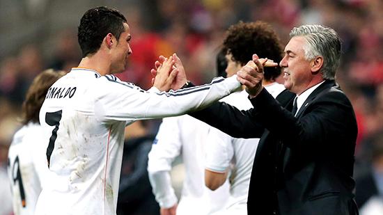 Carlo Ancelotti og Cristiano hadde et strålende forhold. Sent i mai la Cristiano ut et bilde av ham og Ancelotti med meldingen: «En stor trener og fantastisk person. Håper vi jobber sammen igjen neste sesong.» Det skjedde ikke.