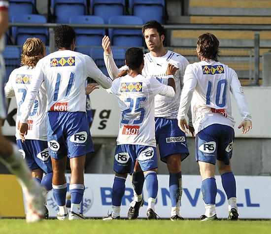 Årene 2005-2009 ble en sportslig opptur for Stabæk. Borte mot Molde i 2006 scoret Inge André Olsen. Lagkameratene Bjørnar Holmvik, Daniel Nannskog, Alanzinho og Veigar Páll Gunnarsson jublet.