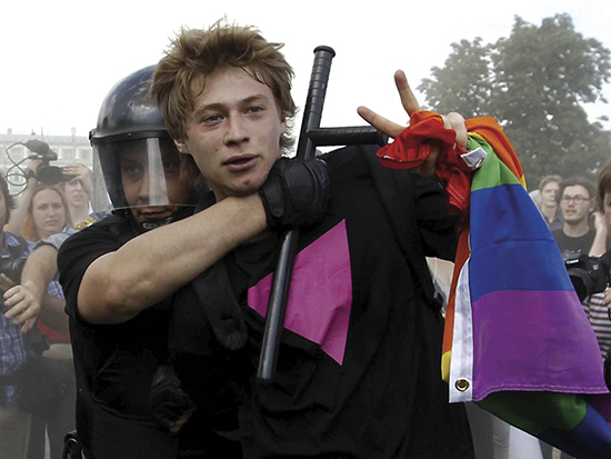 I 2013 vedtok det russiske parlamentet en lov «for å beskytte barn mot informasjon som benekter tradisjonelle familieverdier». I realiteten er dette en lov som gir myndighetene rett til å trakassere LGBT-miljøet i Russland. Homohat har blitt institusjonalisert i Russland.